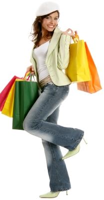 eine frau nach einer shopping tour im buyvip privat sale