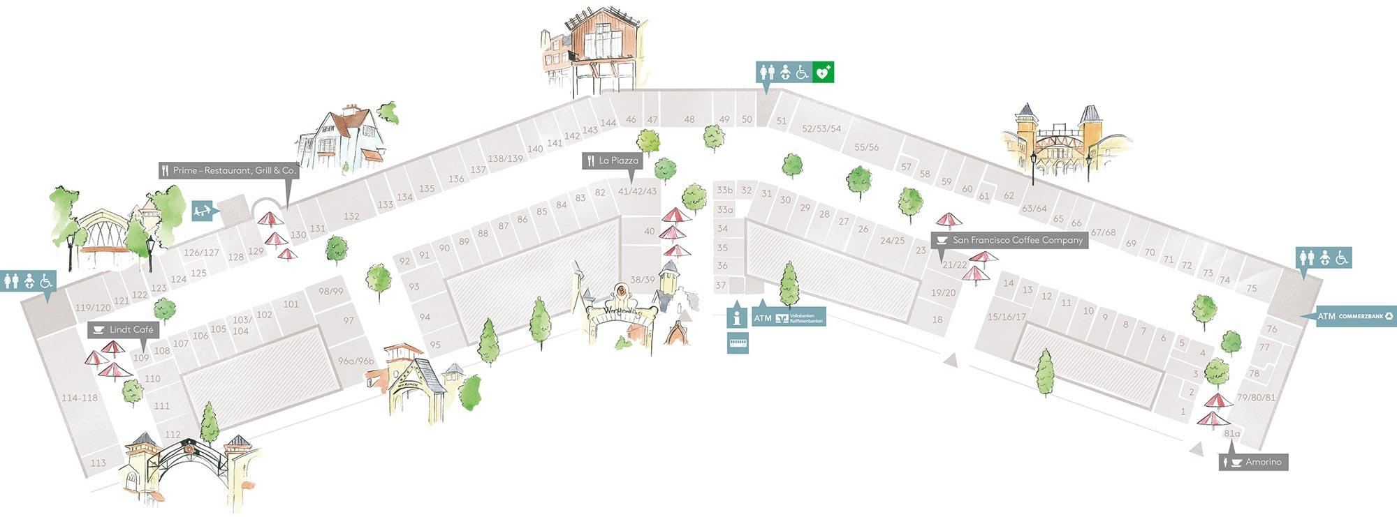 wertheim village centerplan