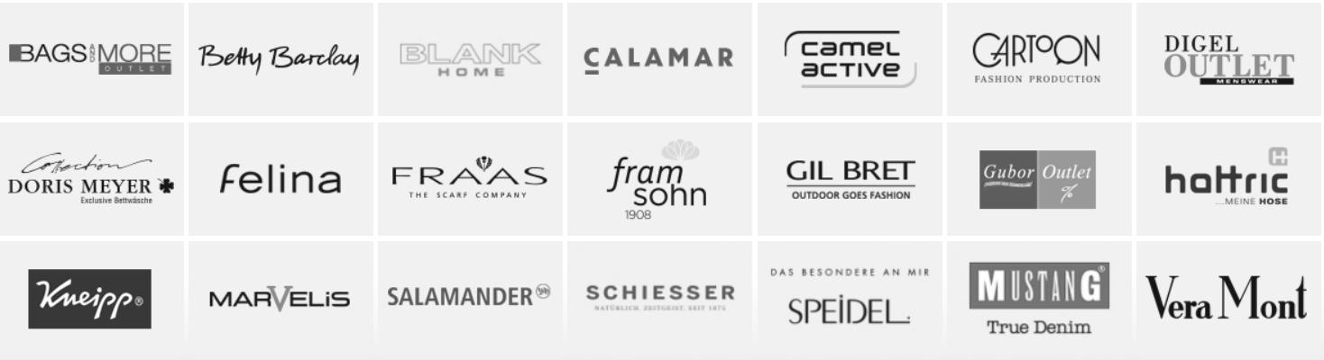 Fashionpark Nussloch Marken